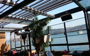 سقف جمع شونده رستوران